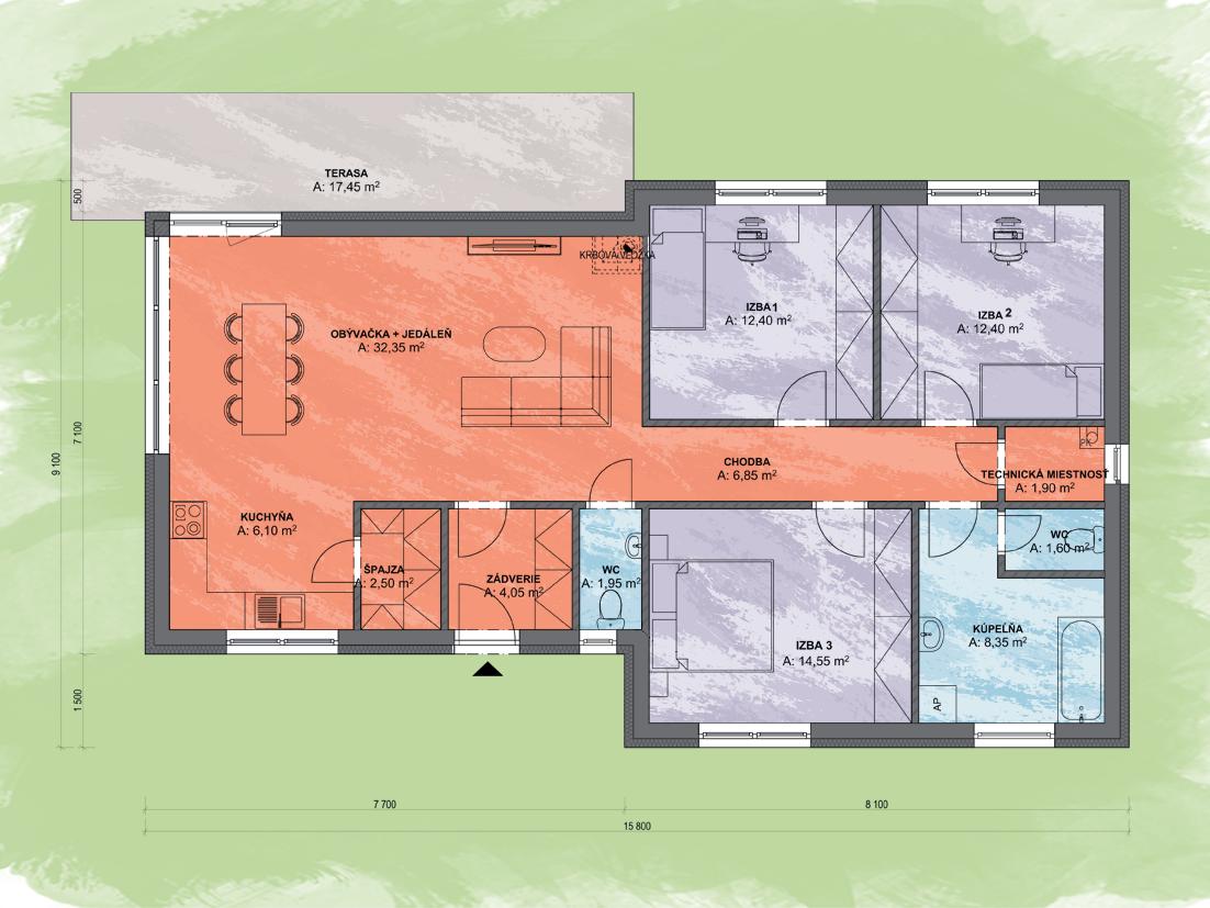 Nocte Design Podorys - ANGI 1 | Familyhouse