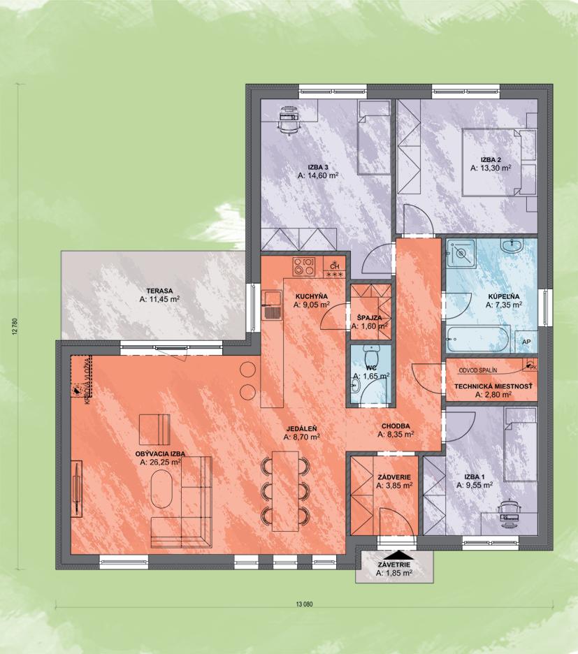 Sarah Design Podorys - ANGI 3 | Familyhouse