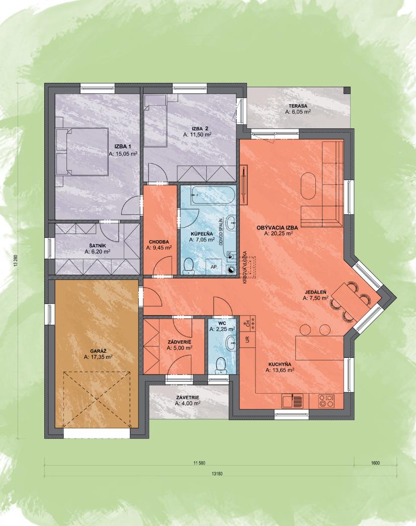 Caligo Design Podorys - EVA 1   Familyhouse