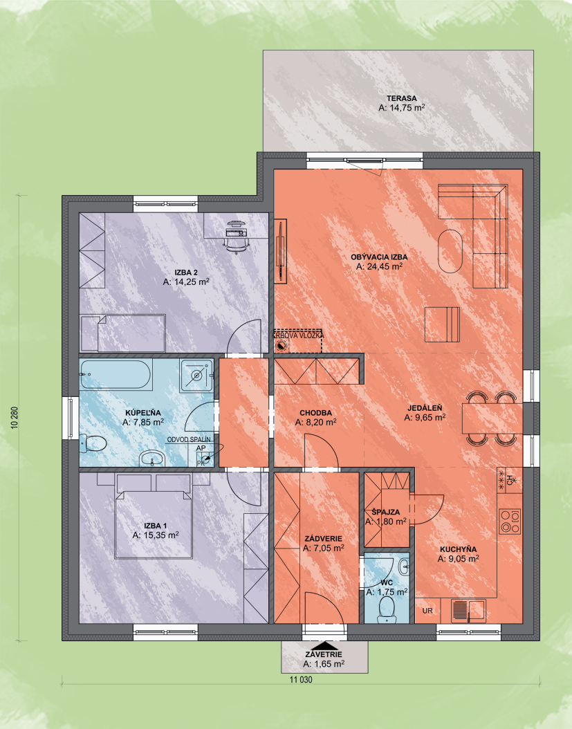 Gabriel Design Podorys - EVA 2 | Familyhouse