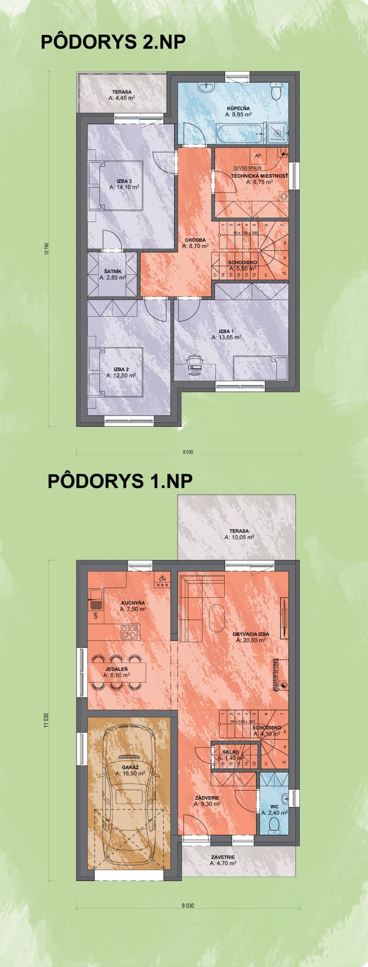 Nubes Podorys Design - FLÓRA 1 | Familyhouse