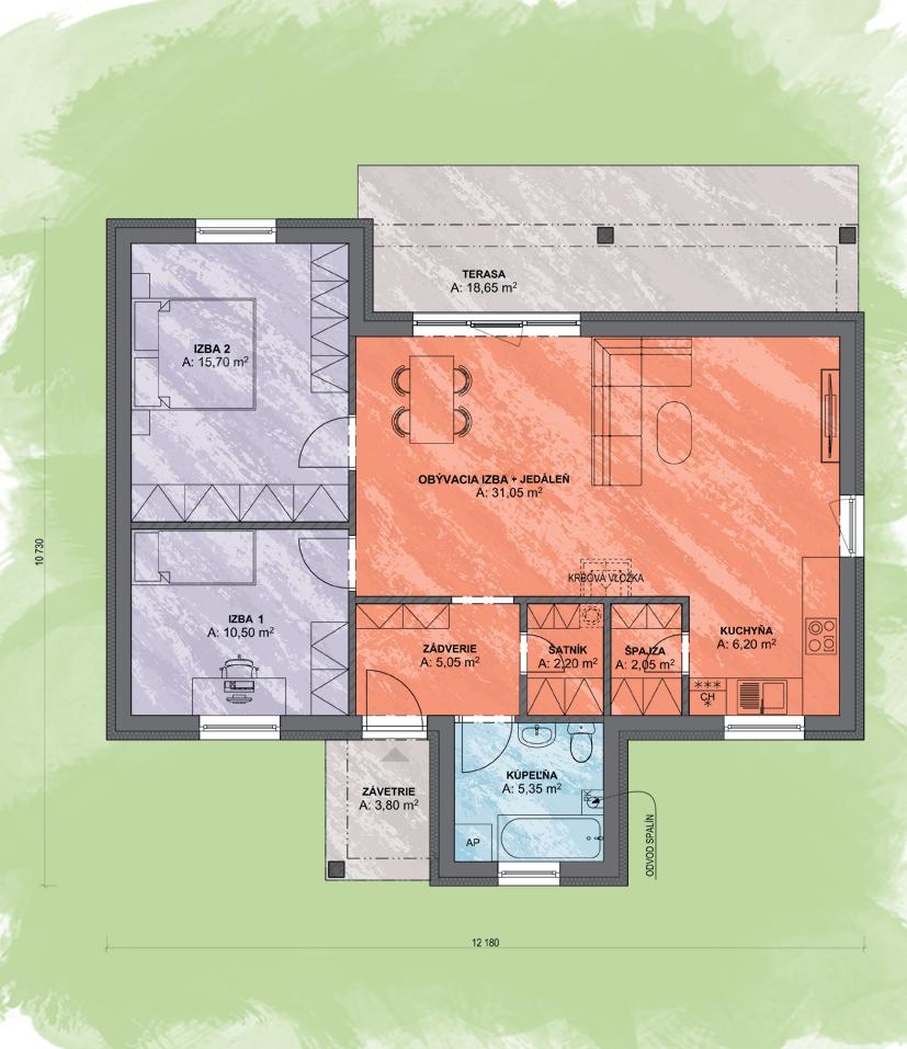 Mini Desing Podorys - LEA 2   Familyhouse