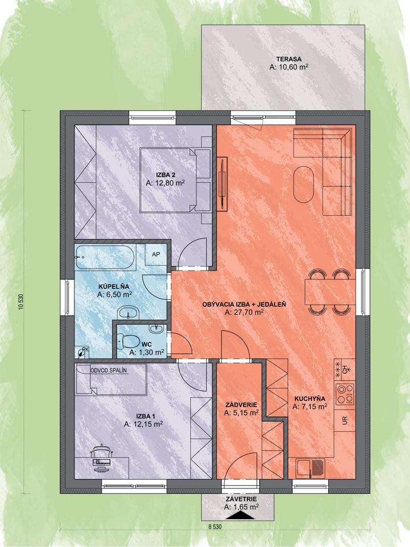 Castor Design Final Podorys - LEA 4 | Familyhouse