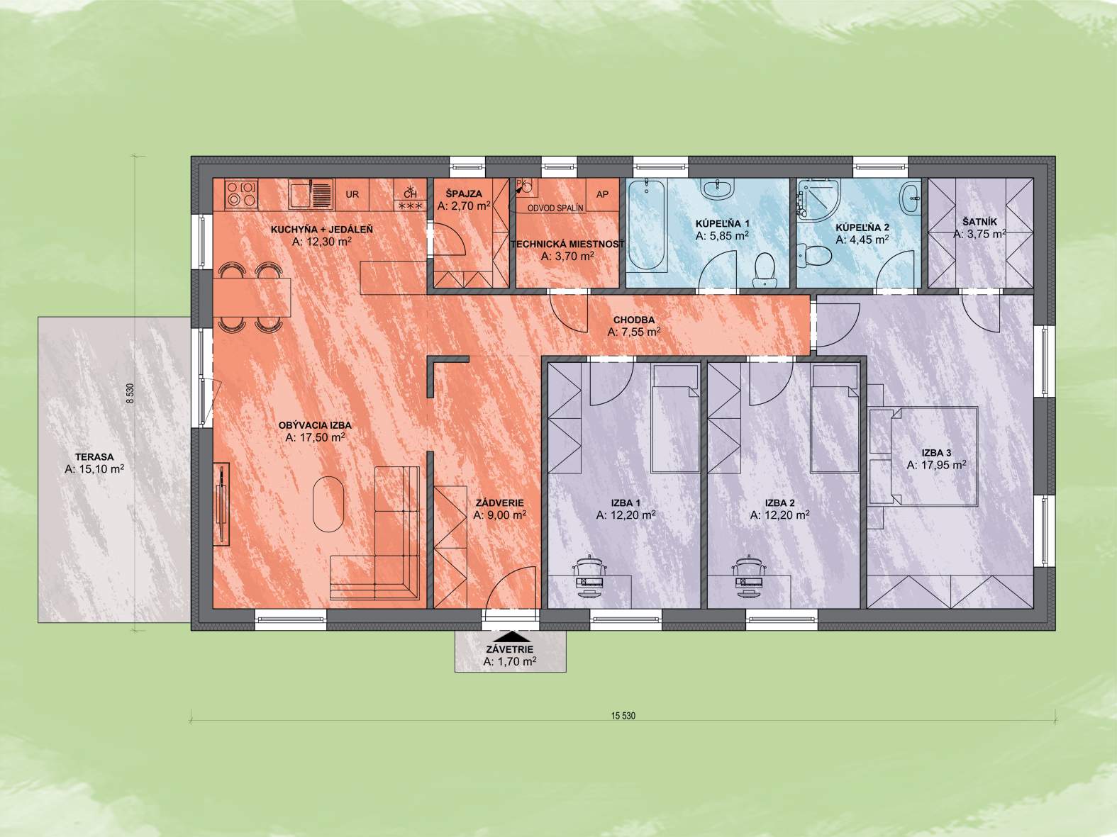 Ciro Design Podorys - LUNA 15 | Familyhouse