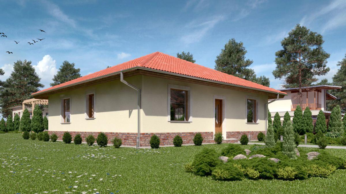 dom so sikmou strechou